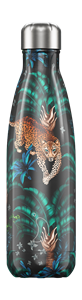 Botella Chilly de acero inoxidable 500 ml. Tropical Leopardo